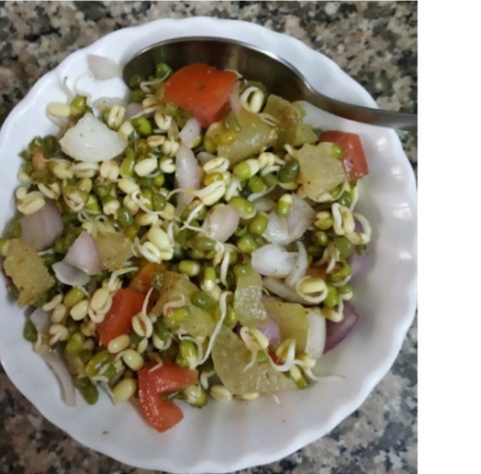 Ankurit Moong or Sprout Salad