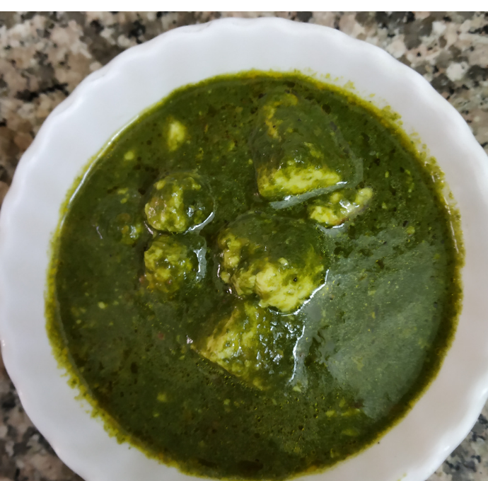 Palak Paneer (Cottage Cheese in Spinach)