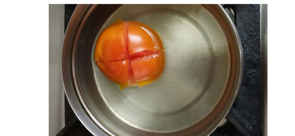 Boiling tomato